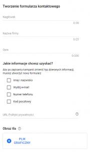 Tworzenie formularza kontaktowego