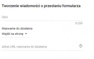 Tworzenie wiadomości o przesłaniu formularza