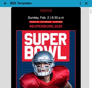 Szablon Super Bowl