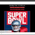 Mail z szablonem Super Bowl